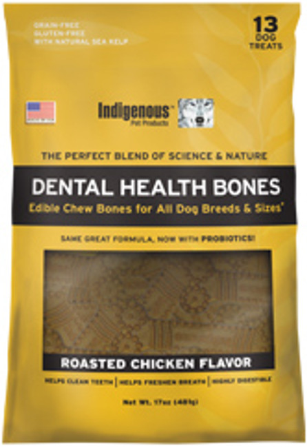 Indigenous Dental Health Bone - Roasted Chicken Flavor 17 oz