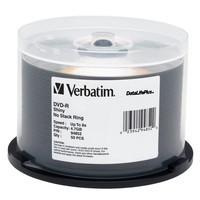 Verbatim DVD-R 8X 4.7GB Shiny Silver Discs, 50 per Spindle