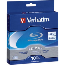 Verbatim Blu-ray Disc, 50GB Capacity, 10 Pack