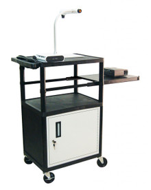 Luxor Presentation Cart with Pull-out Cabinet