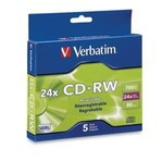 Verbatim CD-RW Ultraspeed Discs with Branded Surface