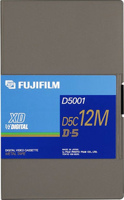 Fuji D5 Tape 94 Minute Large Shell Blank Video Tape