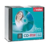 Imation CD-RW 80 Minute Non-Printable Blank Disc