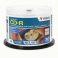 Verbatim CD-R 52X 80 Minute LightScribe Discs, 30 per Pack