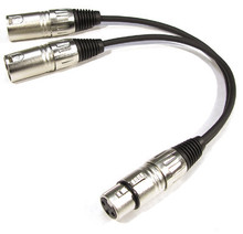 Kirlin XLR Female to Dual XLR Male Y-cable Splitter