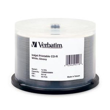 Verbatim Glossy CD-R Disc, 50 Spindle Pack