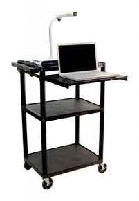 Luxor Presentation Cart with Laptop Shelf