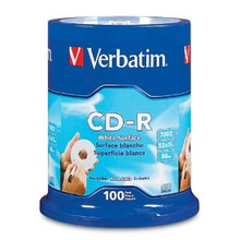 Verbatim CD-R 80 Minute Non-Printable Discs, 100 per Spindle