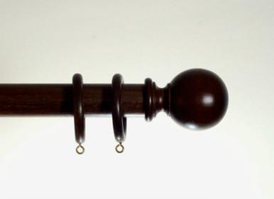 35mm Walnut Wooden Curtain Pole Spirea