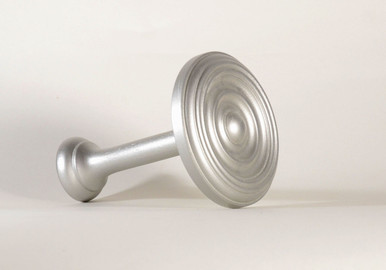 50mm Wooden Holdbacks Colour Silver (Pair)