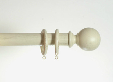 35mm Cream Gold Wooden Curtain Pole Spirea