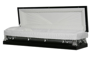 Sterling Ebony & Silver Full Couch