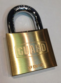 "Guard Brass Padlock 2"" (50mm) BODY 1-1/8"" SHACKLE"