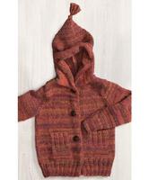 Patons W695 Jacket with hood