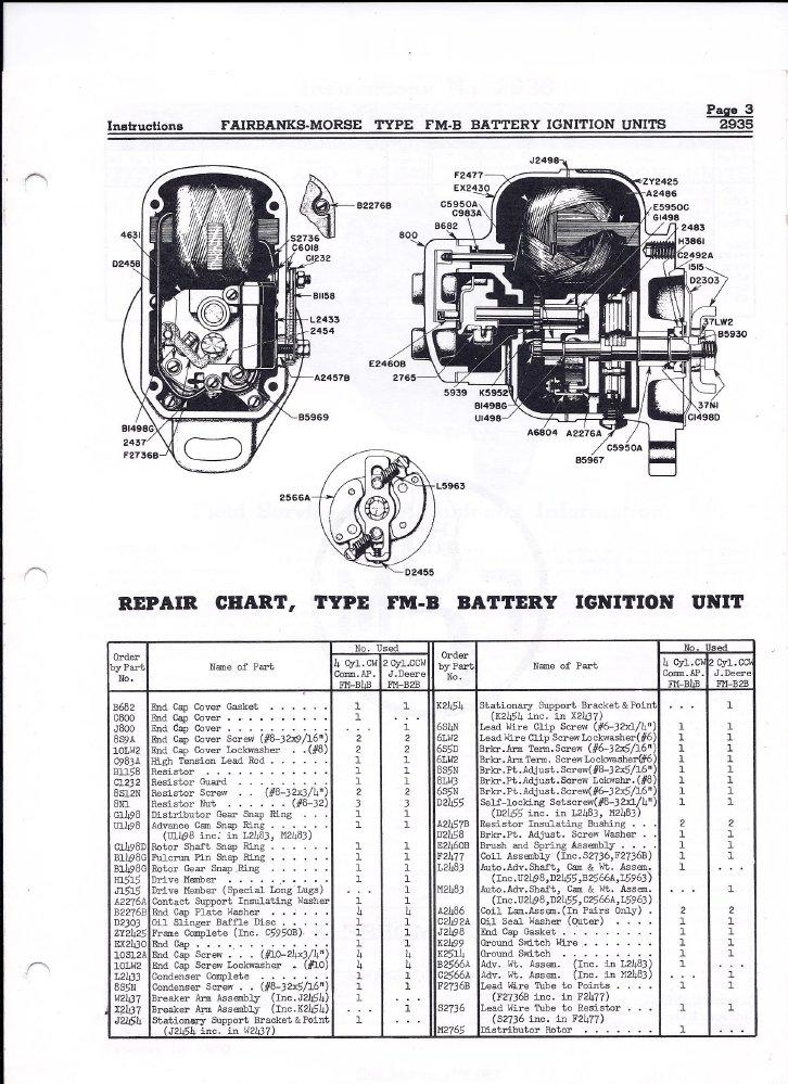 Battery  Distributor Rx - Fairbanks Morse Battery Ignition - Fmb2b Fmb4b