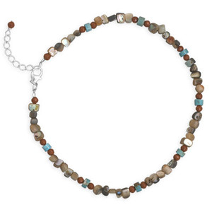 T-A-J Stone Anklet