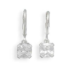 CZ Lever Back Earrings
