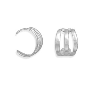 3 Row Polished Ear Cuff