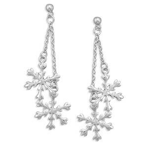 Falling Snow Earrings