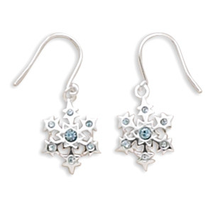 Little Blue Snowflake Earrings