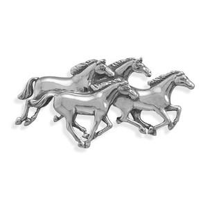 4 Horses Galloping Pin