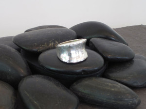 Hammered Inverted Ring