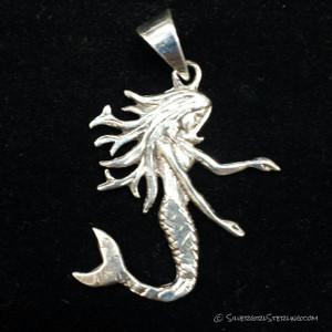 Mermaid on Black Background