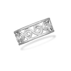 Scroll Design Toe Ring