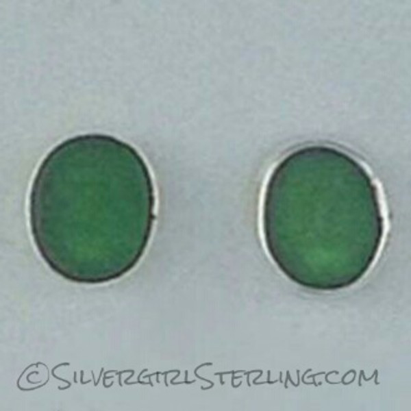 Sea Watch Post Earrings - Green