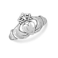 Oxidized Claddagh Ring