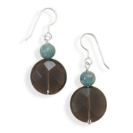 Turquoise and Smoky Quartz Earrings