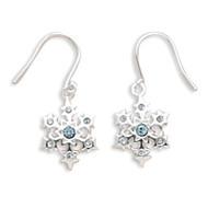 Little Blue Snowflake Earrings