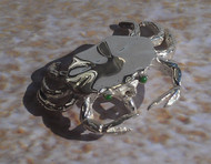 Green-Eyed Crab Pendant