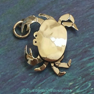 Crab Pendant in Silver