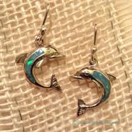 Opal Dolphin Earrings