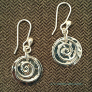 Swirl with Hammered Disc Earrings