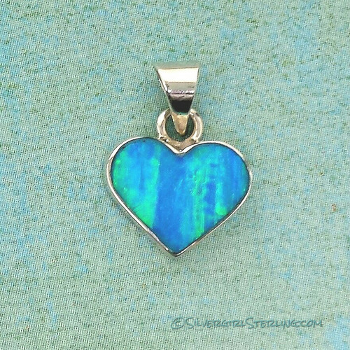 Lighthearted Necklace in Blue Opal (shown without accompanying Box Chain)
