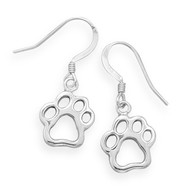 Paw Print Cut Out Earrings