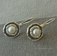 Classic Pearl Earrings with locking French wire backs