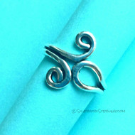 Loop & Swirls Toe Ring