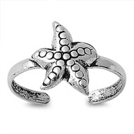 Silver Starfish Toe Ring