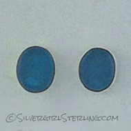 Sea Watch Post Earrings - Azure