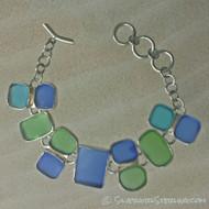 Sea Glass Hopscotch Bracelet