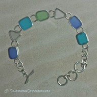 Sea Glass Link Bracelet