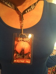 Go-Go's Backside Backstage Pass - Autographed