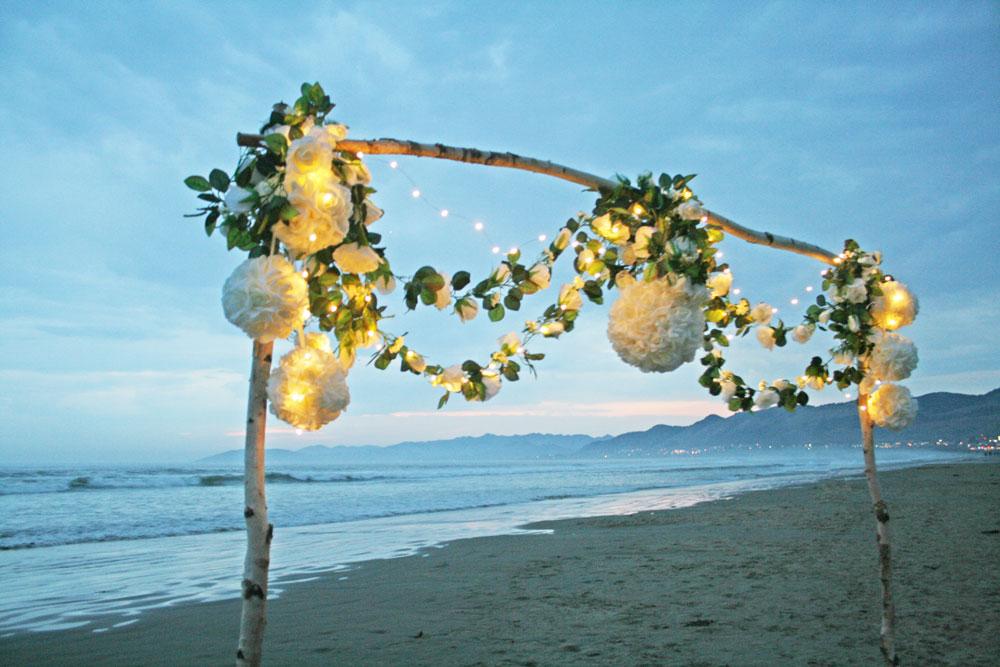 Ivory Rose Beach Arch