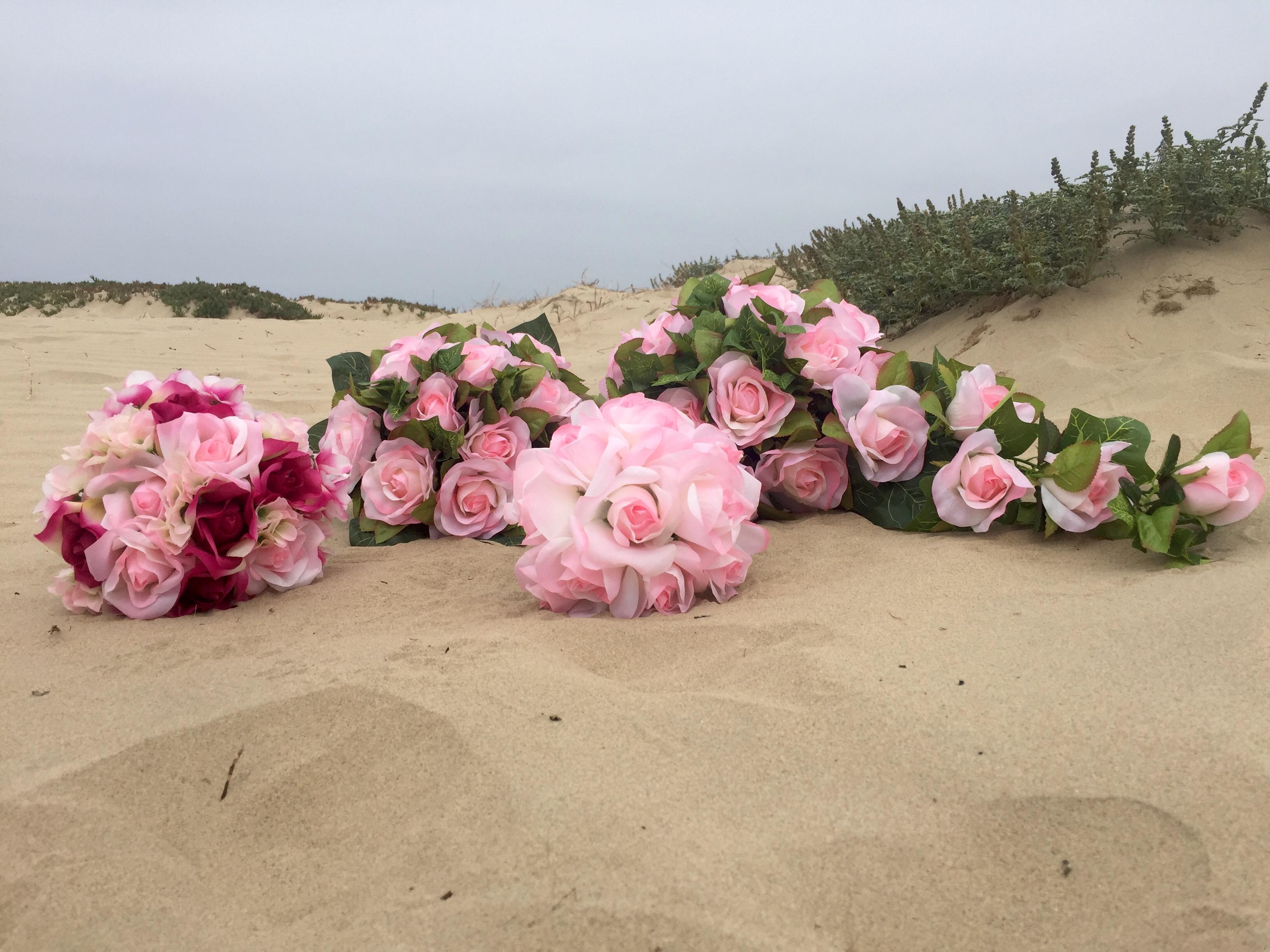 Summer Beach Wedding Flower Ideas - TheBridesBouquet.com