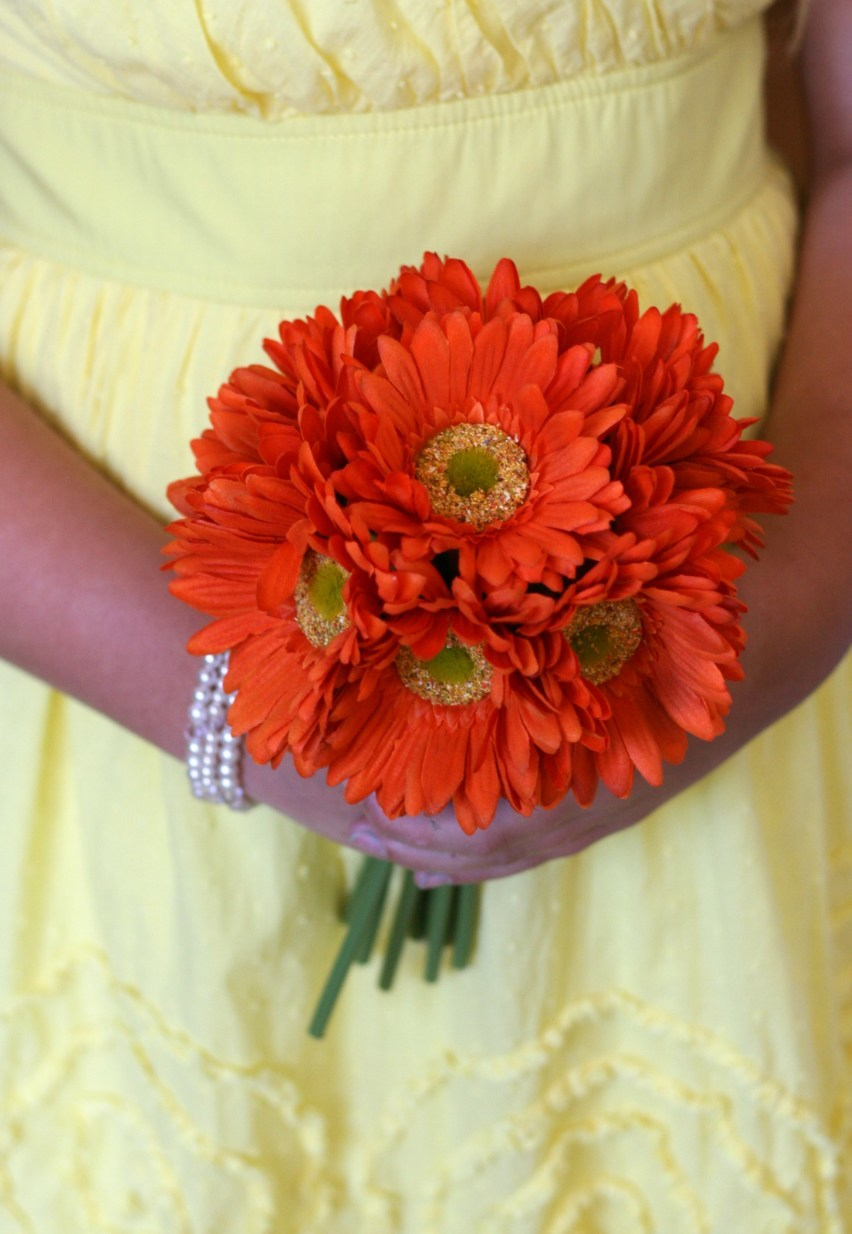 Image Gallery Orange Gerbera Daisy Centerpieces