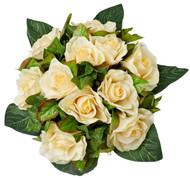 Yellow Silk Rose Nosegay - Silk Bridal Wedding Bouquet