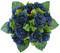 Navy Blue Silk Rose Nosegay - Bridal Wedding Bouquet
